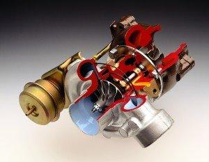 Турбонаддув служит для подачи воздушной смеси в цилиндры двигателя.